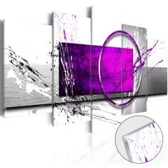 Artgeist Acrylglasbild - Purple Expression [Glass]