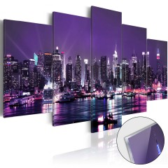 Artgeist Acrylglasbild - Purple Sky [Glass]