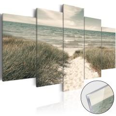 Artgeist Acrylglasbild - Quiet Beach [Glass]