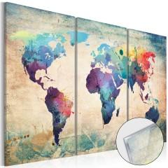 Artgeist Acrylglasbild - Rainbow Map [Glass]