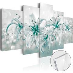 Artgeist Acrylglasbild - Sapphire Lilies [Glass]