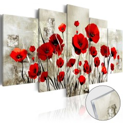Artgeist Acrylglasbild - Scarlet Field [Glass]