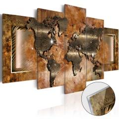 Artgeist Acrylglasbild - Steel Map [Glass]