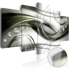 Artgeist Acrylglasbild - The Wave of Green Glow [Glass]