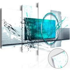 Artgeist Acrylglasbild - Turquoise Expression [Glass]