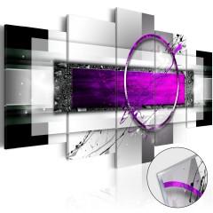 Artgeist Acrylglasbild - Violet Rim [Glass]