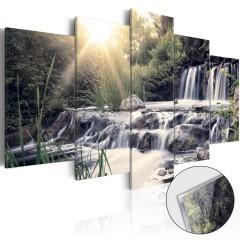 Artgeist Acrylglasbild - Waterfall of Dreams [Glass]