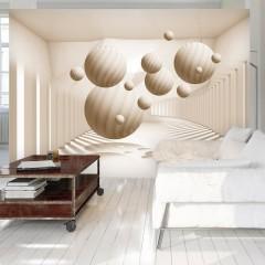 Artgeist Fototapete - Beige Balls
