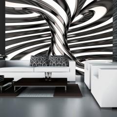 Artgeist Fototapete - Black and white swirl