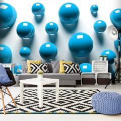 Artgeist Fototapete - Blue Balls