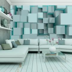 Artgeist Fototapete - Blue puzzle