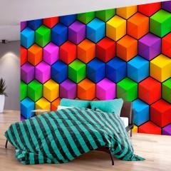 Artgeist Fototapete - Colorful Geometric Boxes
