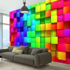 Artgeist Fototapete - Colourful Cubes