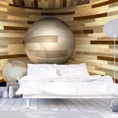 Artgeist Fototapete - Holz-Orbit