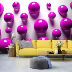 Artgeist Fototapete - Purple Balls
