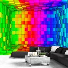 Artgeist Fototapete - Rainbow Cube