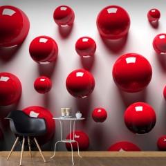 Artgeist Fototapete - Red Balls
