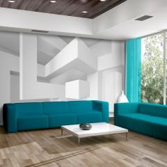 Artgeist Fototapete - White geometry