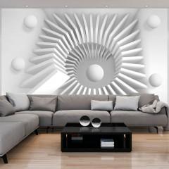Artgeist Fototapete - White jigsaw