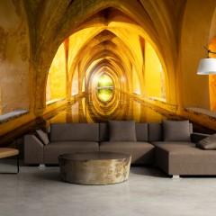 Artgeist Fototapete - The Golden Corridor