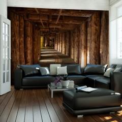 Artgeist Fototapete - Wooden passage