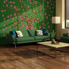 Artgeist Fototapete - Abstrakt: Baum (grün)