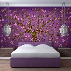 Artgeist Fototapete - Abstrakt: Baum (violett)