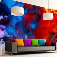 Artgeist Fototapete -  Colored flames