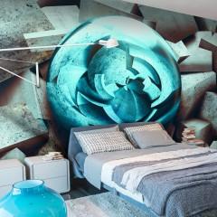 Artgeist Fototapete - Blue glow