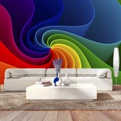 Artgeist Fototapete - Colorful Pinwheel