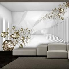 Artgeist Fototapete - Diamond Corridor (Grey)