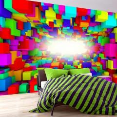 Artgeist Fototapete - Light In Color Geometry