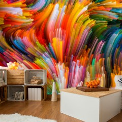 Artgeist Fototapete - Rainbow Waves