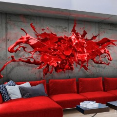 Artgeist Fototapete - Red Ink Blot