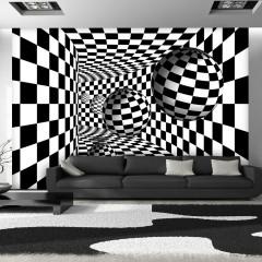 Artgeist Fototapete - Schwarz-weißer Korridor