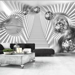 Artgeist Fototapete - Silberne Treppen