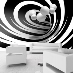 Artgeist Fototapete - Twisted In Black & White