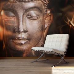 Artgeist Fototapete - Buddha. Fire of meditation.