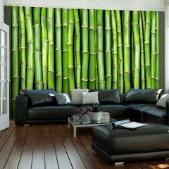 Artgeist Fototapete - Imitation einer Bambuswand
