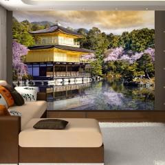 Artgeist Fototapete - Japanische Landschaft