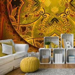 Artgeist Fototapete - Mandala: Golden Poem