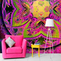 Artgeist Fototapete - Mandala: Pink Expression