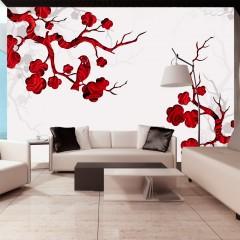 Artgeist Fototapete - Red bush