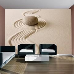Artgeist Fototapete - Zen sand garden