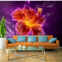 Artgeist Fototapete - Fiery flower in purple