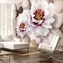 Artgeist Fototapete - Flowers and Shells