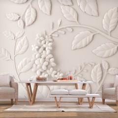 Artgeist Fototapete - Paper Flowers (Cream)