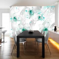 Artgeist Fototapete - Sounds of subtlety - turquoise