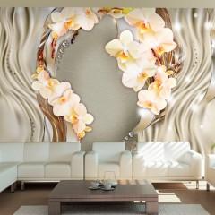 Artgeist Fototapete - Wreath of orchids