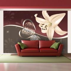 Artgeist Fototapete - Cream lily